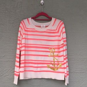 JB By Julie Brown S Pink & Cream With Gold Anchor
